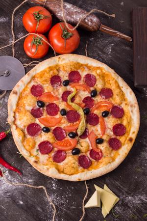 """Пицца """"Пепперони помидор"""""""